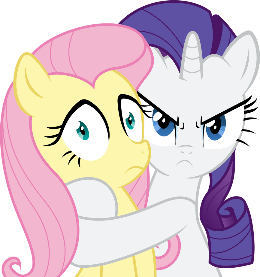 Rarity Is Possessive Of Fluttershy By Vladimirmacholzraum -6476