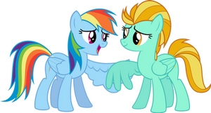 [Request] Rainbow Dash and Lightning Dust