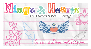 Wings and Hearts + Img by Saerina