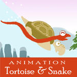 Tortoise and Snake animation