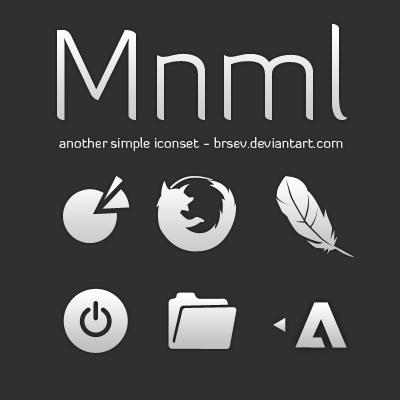 Mnml Icon Set by brsev