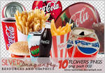 10 Coke and chips png's