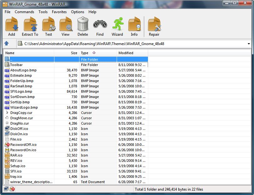 Gnome 48x48 for WinRAR