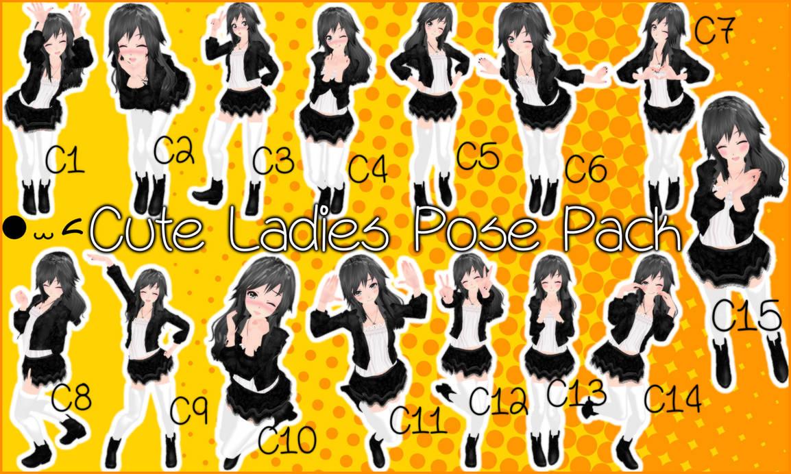 Cute Ladies Pose Pack DL by JuuRenka on DeviantArt