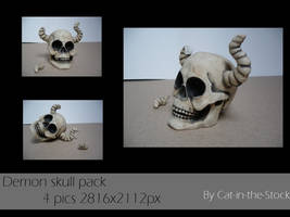 Demon skull pack by Cat-in-the-Stock