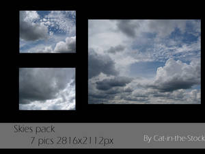 Skies pack by Cat-in-the-Stock