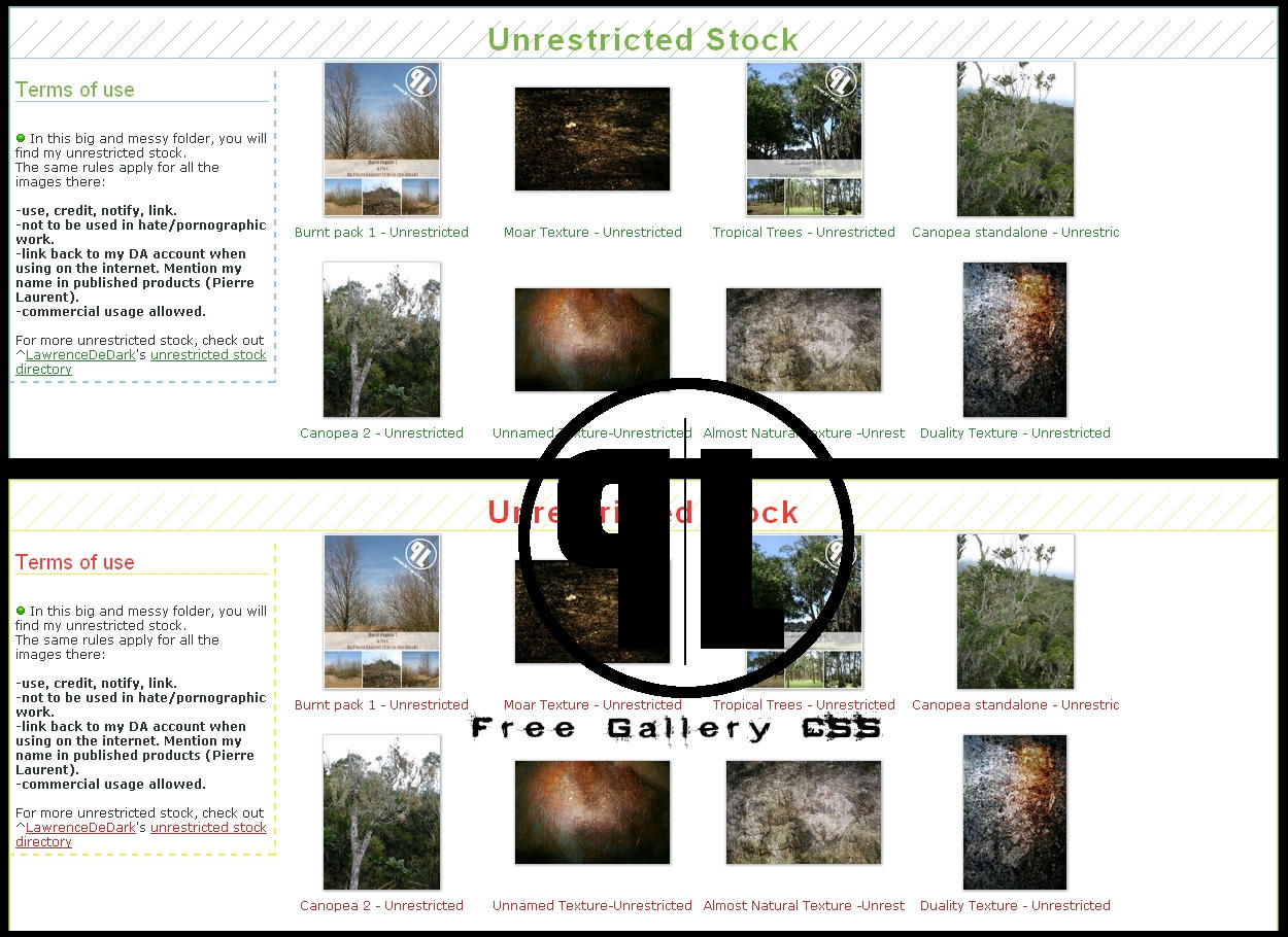 Simple Design Free Gallery CSS by ~Cat-in-the-Stock on deviantART
