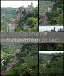 Rocamadour-City on a cliff
