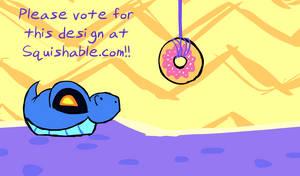 Squishy Cobra vs. A Donut by jazaaboo
