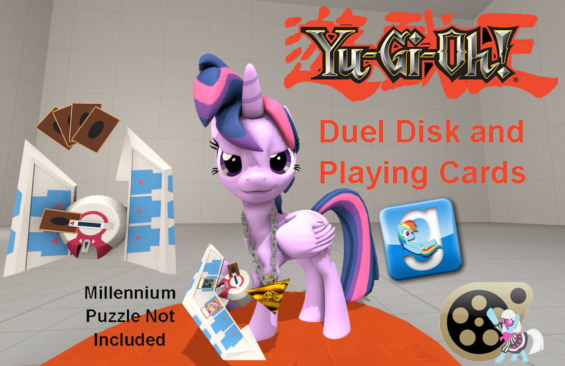 Dl Yu Gi Oh Duel Disk And Playing Cards By Out Buck Pony On Deviantart