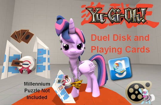 (DL) Yu-Gi-Oh! Duel Disk and Playing Cards