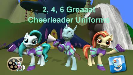 (DL) 2, 4, 6 Greaaat Cheerleader Costume