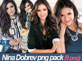 Nina Dobrev Png Pack (9 png) by niaapierce