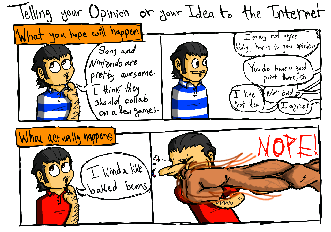 Telling your Opinions and Ideas to the Internet by theINAshow