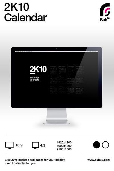 2K10 Desktop Calendar by sub88