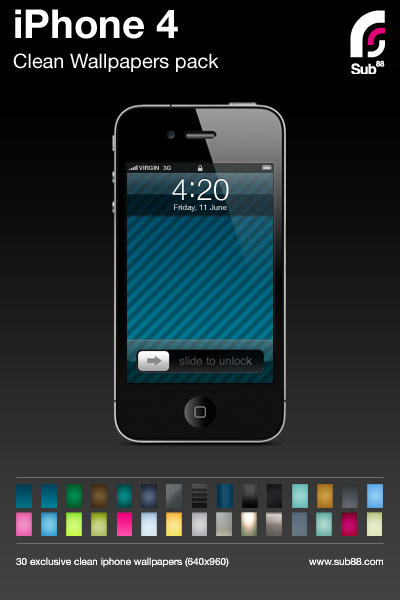 Wallpaper   Phone  Free on 30 Iphone 4 Wallpaper Pack By  Sub88 On Deviantart