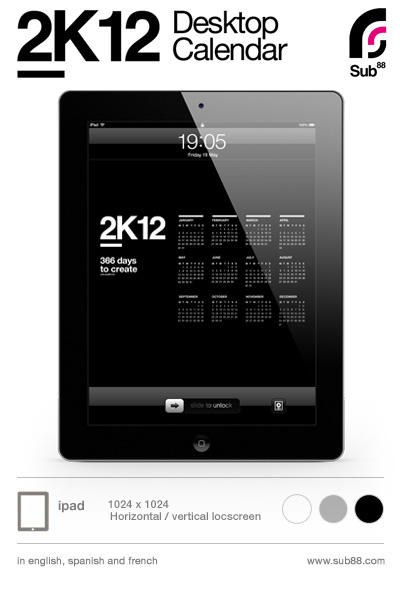 Awesome Desktop Wallpaper on Ipad 2k12 Desktop Calendar By  Sub88 On Deviantart