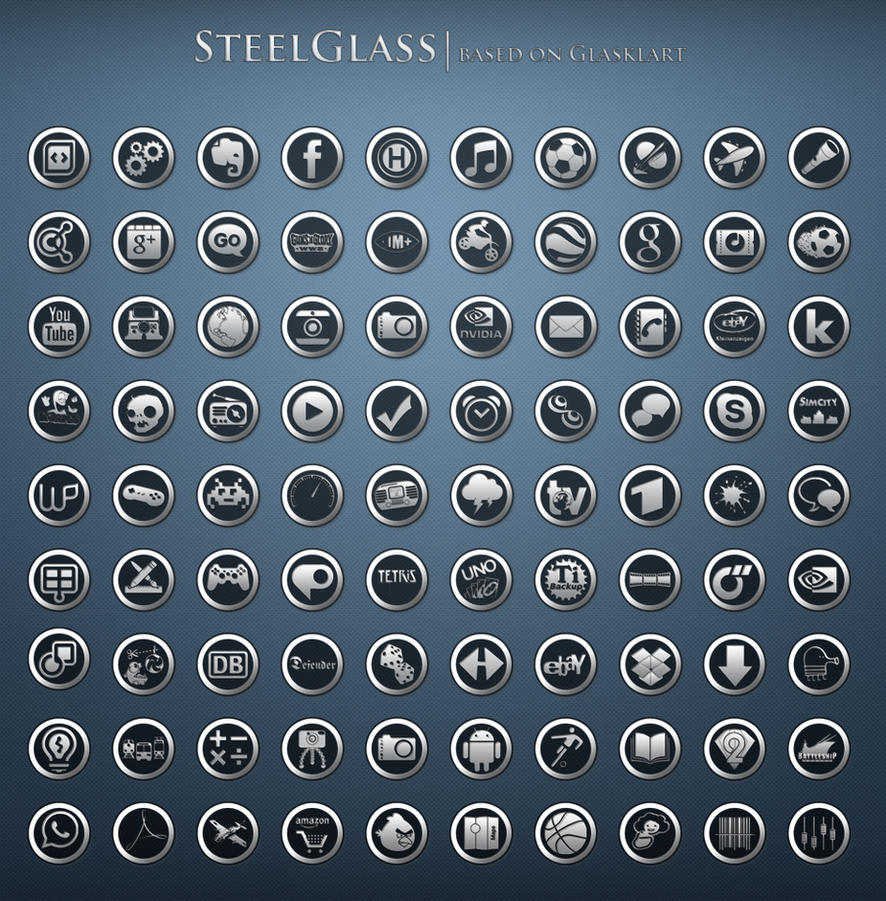 SteelGlass Icons for Android by taczwo on DeviantArt: taczwo.deviantart.com/art/SteelGlass-Icons-for-Android-270483142