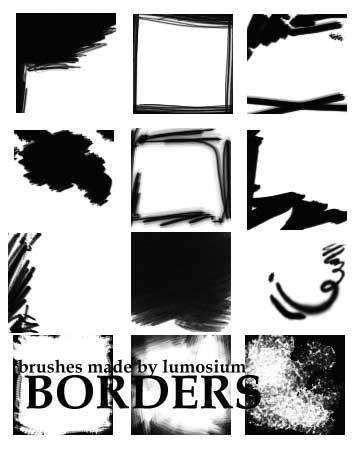 Border brushes