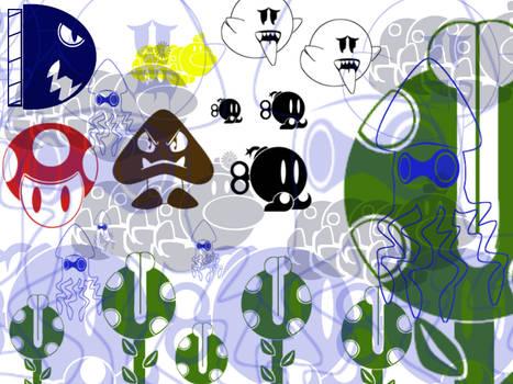 Super Mario Bros Theme Brushes