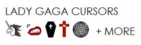 Lady Gaga Cursors by kelynneishere