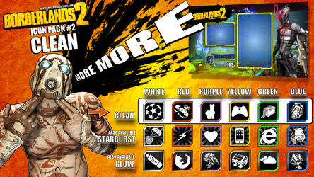 Borderlands 2 Icon pack 2 - CLEAN
