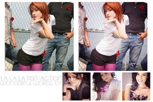 La la la PSD-Action by Wonderfulwords