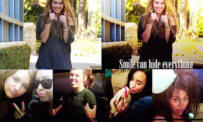 Happy smile can hide everythin