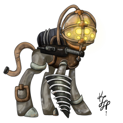 BioShock Big Daddy MLP Adopt (Closed) by ProjectBlastArt