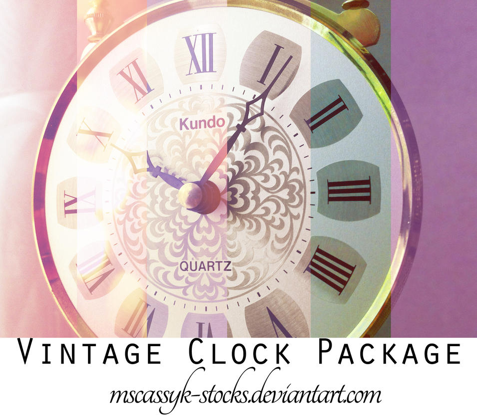 Vintage Clock Package by MsCassyK-Stocks