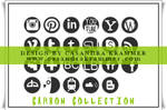 Carbon Collection Social Media Icons