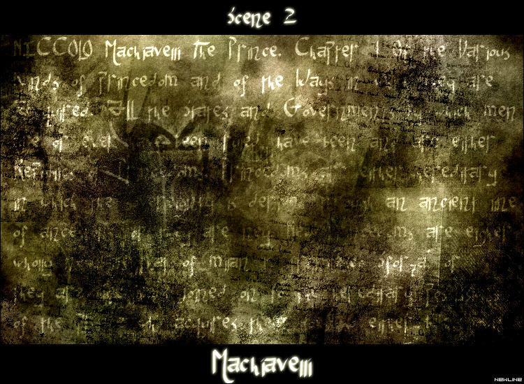 Scene II -Machiavelli Font by NewLine