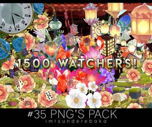 1500 WATCHERS! #35 png's pack by ImTsundereBaka