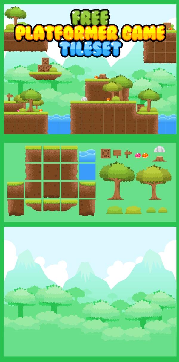 Free Platformer Game Tileset by pzUH on DeviantArt