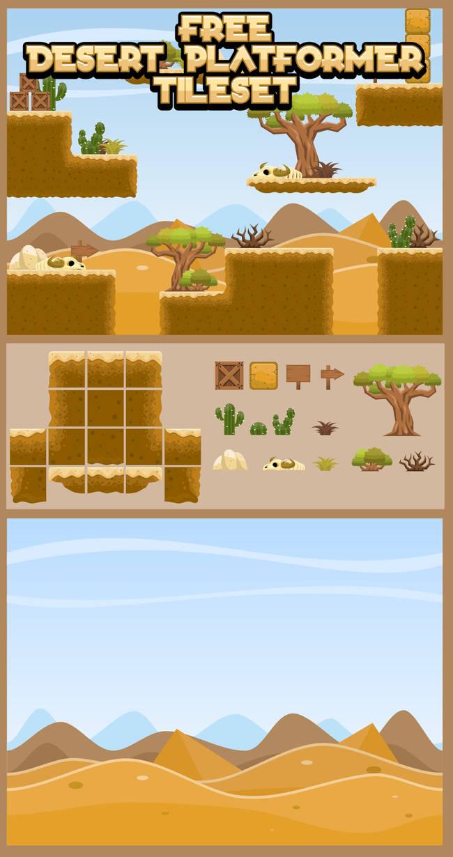 Free Desert Platformer Game Tileset by pzUH on DeviantArt