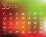 Food Outline Icons Set
