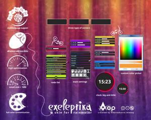 Exeleptika  - skin for Rainmeter