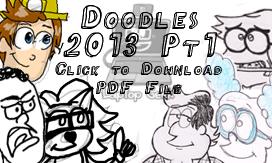 Doodles 2013 Pt1 by LaptopGeek