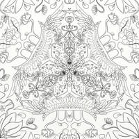 Symmetry of Leaves Colouring Page