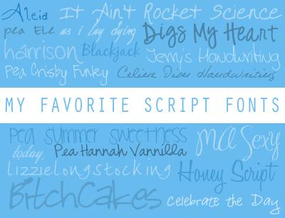 Script Fonts by azuremonkey