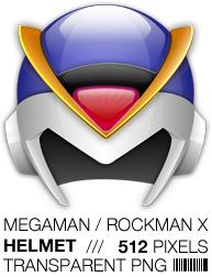 Megaman X Helmet Icon, Rockman by apttap