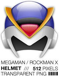 Megaman X Helmet Icon, Rockman