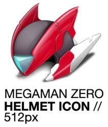 Megaman Zero Helmet Icon, Rockman