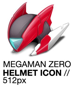 Megaman Zero Helmet Icon, Rockman by apttap