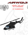 Airwolf Bell 222 Micro Paper model by ThunderChildFTC