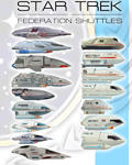 Star Trek 1:200 scale shuttles