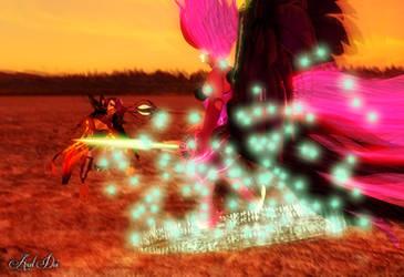 Maya Doi vs. Midnight Sparkle: Come to me by Axel-Doi