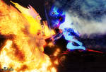 Daybreaker vs. Nightmare Moon: Grim vs. Ragnarok by Axel-Doi