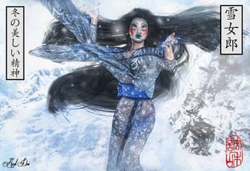 Yuki Onna (The Beautiful Spirit of Winter) by Axel-Doi