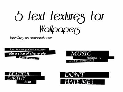 text wallpaper. 5 text textures for wallpapers